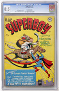 Golden Age (1938-1955):Superhero, Superboy #7 (DC, 1950) CGC VF+ 8.5 Off-white pages....