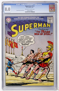 Superman #112 (DC, 1957) CGC VF 8.0 Off-white to white pages