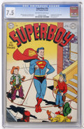 Golden Age (1938-1955):Superhero, Superboy #10 (DC, 1950) CGC VF- 7.5 Off-white to white pages....