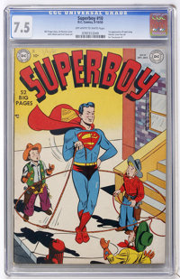 Superboy #10 (DC, 1950) CGC VF- 7.5 Off-white to white pages