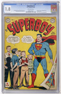 Golden Age (1938-1955):Superhero, Superboy #1 (DC, 1949) CGC GD- 1.8 Off-white pages....