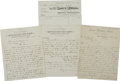 Western Expansion:Cowboy, Three Autograph Documents from Arizona, including:. ... (Total: 3Items)