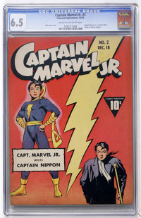 Captain Marvel Jr. #2 (Fawcett, 1942) CGC FN+ 6.5 Cream to off-white pages