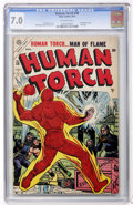 Golden Age (1938-1955):Superhero, The Human Torch #38 (Timely, 1954) CGC FN/VF 7.0 Off-white pages....