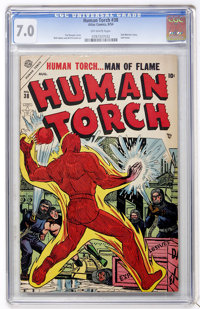 The Human Torch #38 (Timely, 1954) CGC FN/VF 7.0 Off-white pages