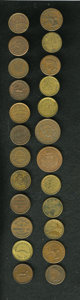 Civil War Merchants, Lot of 24 Civil War Merchant Tokens.... (Total: 24 tokens)