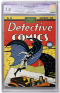Golden Age (1938-1955):Superhero, Detective Comics #33 (DC, 1939) CGC Apparent FN/VF 7.0 Moderate (P) Off-white pages....