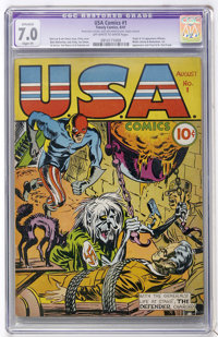 USA Comics #1 (Timely, 1941) CGC Apparent FN/VF 7.0 Slight (P) Off-white to white pages