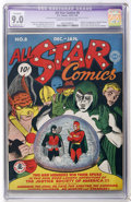 Golden Age (1938-1955):Superhero, All Star Comics #8 (DC, 1942) CGC Apparent VF/NM 9.0 Moderate (P)Cream to off-white pages....