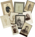 Photography:Cabinet Photos, Nine Late 19th Century Military Cabinet Cards,... (Total: 9 Items)
