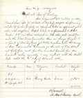 Western Expansion:Cowboy, Wagon Train Bill of Lading from Ft. Sedgewick, Colorado Territory,to Ft. Casper, Dakota,...