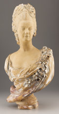 Decorative Arts, Continental:Other , A CONTINENTAL TERRACOTTA BUST OF MARIE ANTOINETTE. Late 19thCentury. 33 inches (83.8 cm) high. ...