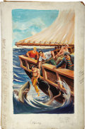 Original Comic Art:Covers, Classics Illustrated #85 Sea Wolf (Sixth Printing) Painted CoverOriginal Art (Gilberton, 1964)....