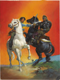 Original Comic Art:Covers, Classics Illustrated #146 With Fire and Sword (Third Printing) Painted Cover Original Art (Gilberton, 1963)....