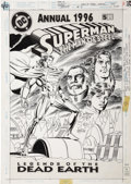 Original Comic Art:Covers, Jerry Ordway - Superman, The Man of Steel Annual #5 Original Art(DC, 1996)....