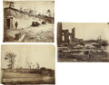 Photography:Official Photos, Three 8 x 10 Albumen Images of Civil War Battle Sites.... (Total: 3Items)