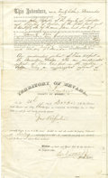 Western Expansion:Goldrush, Territory of Nevada Lander Co. (Austin) Mining Deed 1863 ...