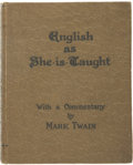 Books:First Editions, Caroline B. Le Row, author. Mark Twain, commentary. English asShe is Taught:...