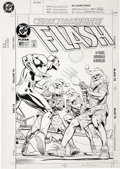 Original Comic Art:Covers, Alan Davis and Mark Farmer - Flash #87 Cover Original Art (DC, 1994)....