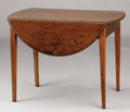 Furniture : English, AN ENGLISH GEORGE III MAHOGANY PEMBROKE TABLE. Late 18th-Early 19th Century. 26-1/2 x 36 x 21 inches (67.3 x 91.4 x 53.3 cm)...