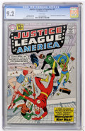 Silver Age (1956-1969):Superhero, Justice League of America #5 (DC, 1961) CGC NM- 9.2 White pages....