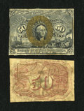 Fractional Currency:Second Issue, Fr. 1314SP 50c Second Issue Narrow Margin Pair New.... (Total: 2 notes)