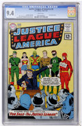 Silver Age (1956-1969):Superhero, Justice League of America #8 (DC, 1962) CGC NM 9.4 White pages....
