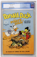 Golden Age (1938-1955):Cartoon Character, Four Color #9 Donald Duck (Dell, 1942) CGC VF+ 8.5 Cream to off-white pages....