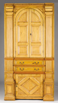 Furniture : American, AN AMERICAN PINE CORNER CABINET. Early 20th Century. 90 x 46-1/2 x 20-1/4 inches (228.6 x 118.1 x 51.4 cm). ...