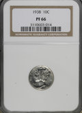 1938 10C PR66 NGC. NGC Census: (602/223). PCGS Population (630/163). Mintage: 8,728. Numismedia Wsl. Price for NGC/PCGS...