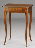 Furniture : French, A FRENCH LOUIS XVTH-STYLE PROVINCIAL CHERRY ONE DRAWER STAND. First Half 19th Century. 35 x 20-1/4 x 14-1/2 inches (88.9 x 5...
