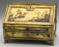 Asian:China Trade, A CHINESE EXPORT MINIATURE LACQUERED BUREAU. Late 19th Century.9-1/2 x 13 x 9 inches (24.1 x 33 x 22.9 cm). ...