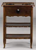 Furniture : French, A FRENCH WALNUT RAFRAICHISSOIR. 18th Century. 28-3/4 x21-1/2 x 13-1/2 inches (73 x 54.6 x 34.3 cm). ...