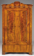 Furniture , A CONTINENTAL MAHOGANY ARMOIRE. Late 19th-Early 20th Century. 70-1/2 x 39 x 18-1/2 inches (179.1 x 99.1 x 47.0 cm). ...