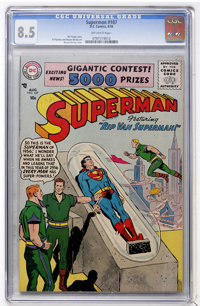 Superman #107 (DC, 1956) CGC VF+ 8.5 Off-white pages