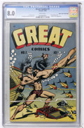 Golden Age (1938-1955):Adventure, Great Comics #1 Mile High pedigree (Novack, 1945) CGC VF 8.0 White pages....
