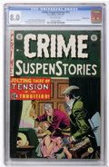 Golden Age (1938-1955):Crime, Crime SuspenStories #14 Double Cover (EC, 1952) CGC VF 8.0 Off-white pages....