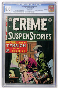 Crime SuspenStories #14 Double Cover (EC, 1952) CGC VF 8.0 Off-white pages