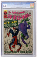 Silver Age (1956-1969):Superhero, The Amazing Spider-Man #6 (Marvel, 1963) CGC NM- 9.2 Off-white towhite pages....