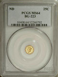 California Fractional Gold: , Undated 25C Liberty Round 25 Cents, BG-223, Low R.4, MS64 PCGS.PCGS Population (18/4). NGC Census: (4/1). (#10408)...