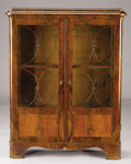 Furniture : Continental, A CONTINENTAL MAHOGANY VITRINE. Late 19th-Early 20th century.49-1/2 x 39-1/2 x 13 inches (125.7 x 100.3 x 33.0 cm). ...