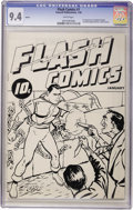 Golden Age (1938-1955):Superhero, Flash Comics Ashcan Edition #1 Captain Thunder (Fawcett, 1940) CGC NM 9.4 White pages....