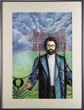Books:Fiction, [Stephen King]. Original Painting of Stephen King for 1996 ChelseaHouse Book....