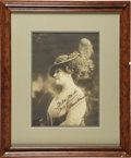 Autographs:Celebrities, Lillian Russell Oversized Sepia Photograph Signed and Inscribed...