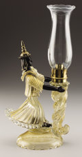 Art Glass:Other , AN ITALIAN GLASS FIGURAL LAMP. Salviati & Co., Murano, 1950s.Signed: Salviati / Venezia / Borby. 16 inches (40.6 cm) h...