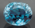 Gems:Faceted, BRILLIANT BLUE ZIRCON. ...
