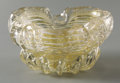 Art Glass:Other , AN ITALIAN GLASS ASHTRAY. Murano, 1950s. 5-1/2 inches (14.0 cm)wide. ...