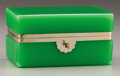 Decorative Arts, Continental:Other , A LARGE JADEITE BOX. 7-1/2 inches (19.1 cm) long. ...
