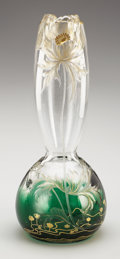 Art Glass:Other , A BOHEMIAN ART GLASS VASE. Moser, Czechoslovakia, 20th Century.Marks: 4483 / 238. 10 inches (25.4 cm) high. ...