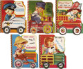 "Books:Children's Books, Collection of Five Children's ""Here Comes"" Series Wheel Books....(Total: 5 Items)"